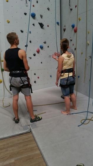 Kletterwand mit Sabine